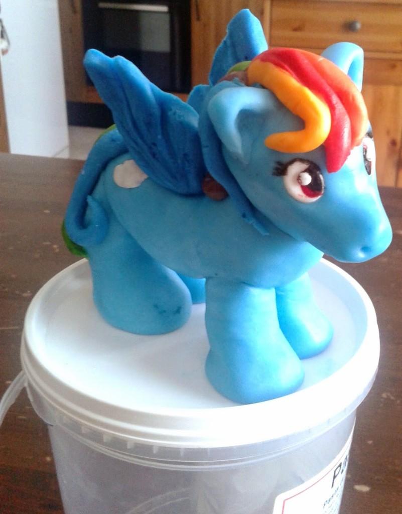 Rainbow Dash, My Little Pony in pasta di zucchero
