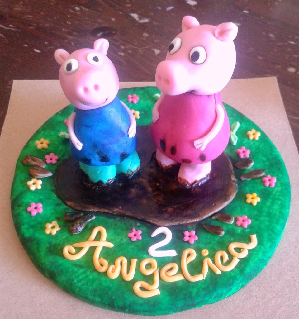 Cake Topper Peppa Pig e George