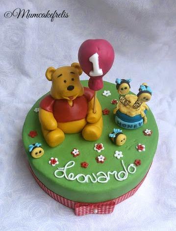 Winnie the Pooh cake toppers, Classic winnie, first birthday Winnie The Pooh Cake Toppers