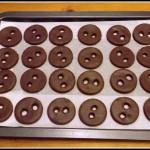Biscotti bottoni al cioccolato