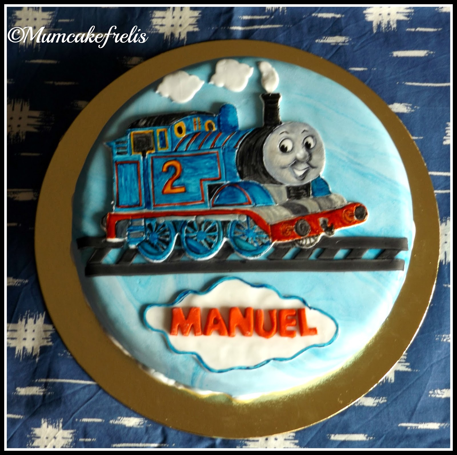 Trenino thomas per i 2 anni di manuel mum cake frelis for Decorazioni torte trenino thomas