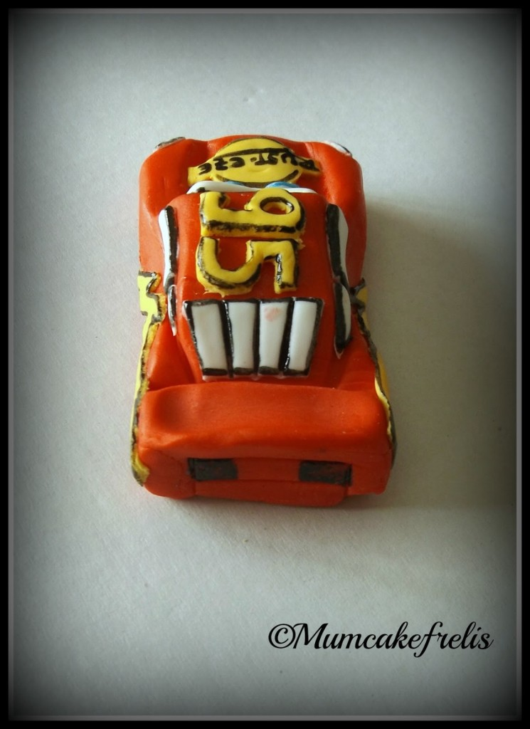 Edible Fondant Disney CARS Inspired 3D cake Topper