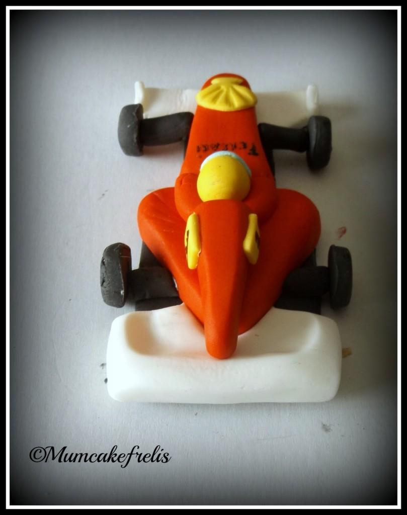 Ferrari F1 fondant topper