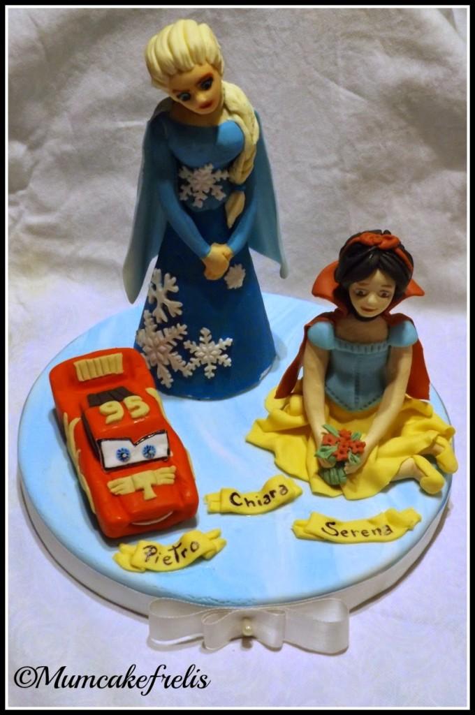 Cake Topper Elsa, Saetta Mc Queen & Biancaneve