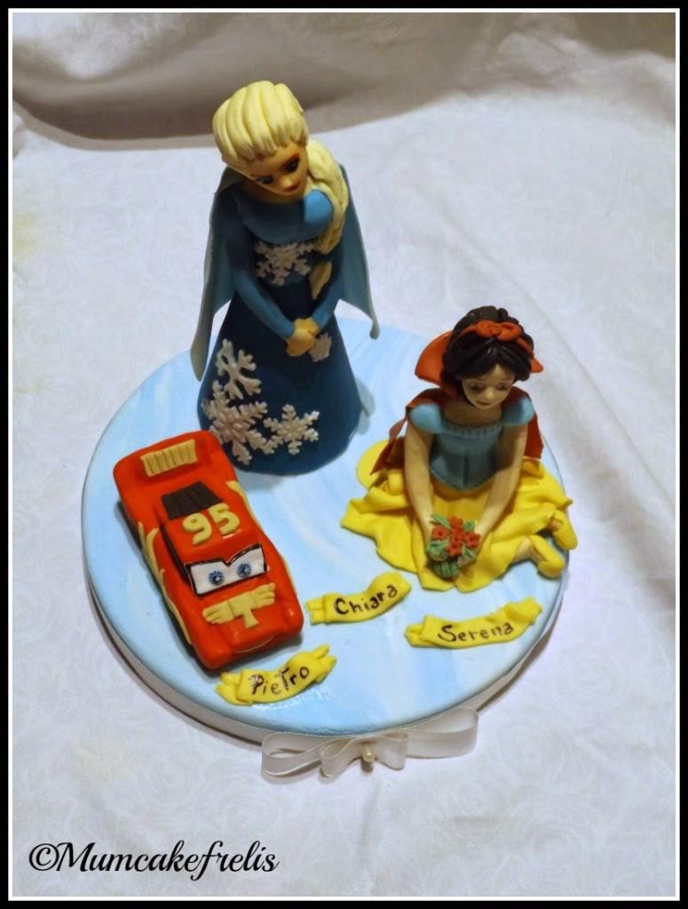 Cake Topper Elsa, Cake Topper Saetta Mc Queen & Cake Topper  Snow white