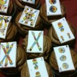cupcakes con carte da gioco