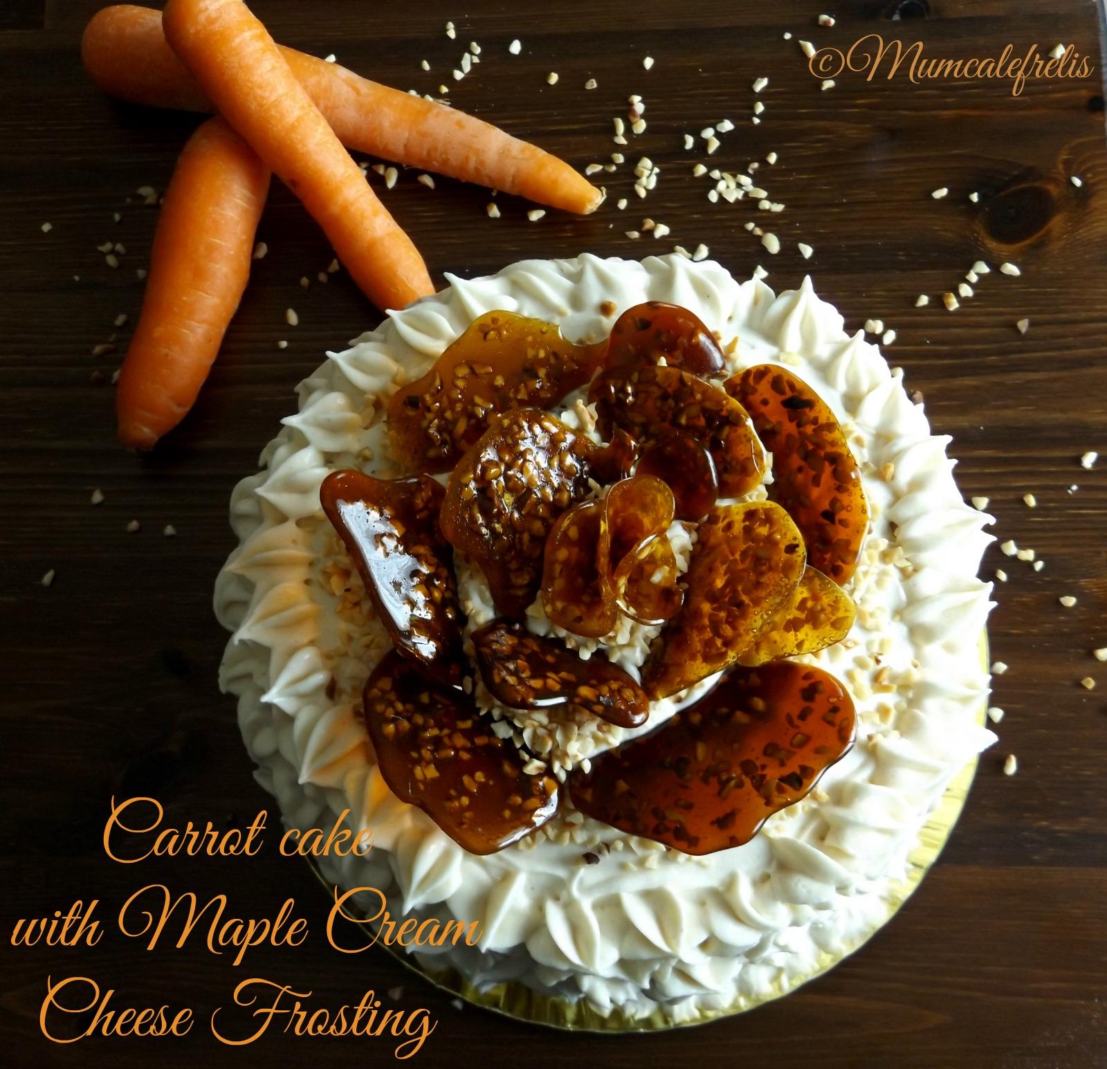 torta di carote con sciroppo d'acero
