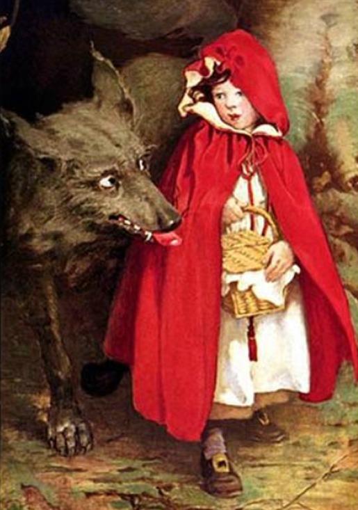 illustrazione della fiaba di cappuccetto rosso