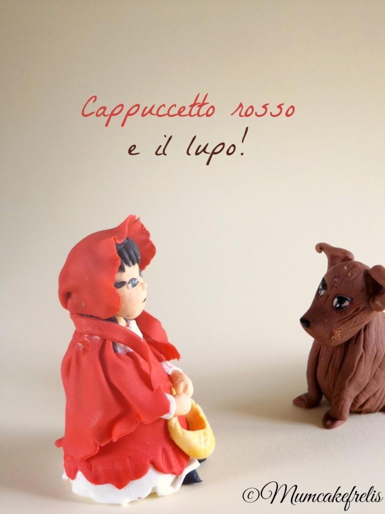 Cake Topper - Sugar Paste - Cappuccetto Rosso