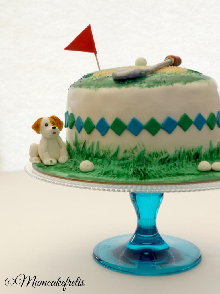 Birthday Golf Course Cake