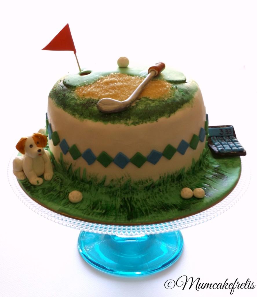 golf buble cake