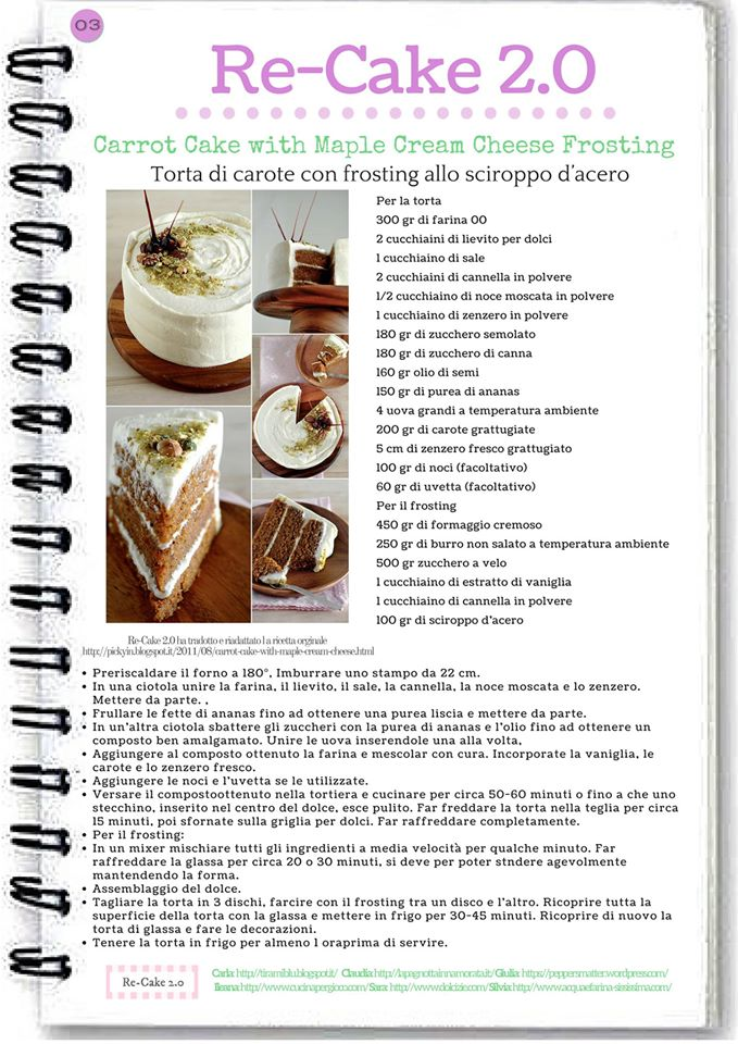 Re-Cake 2.0 ricetta aprile