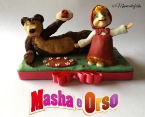 Masha & orso cake topper