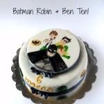 Batman Robin Ben Ten cake