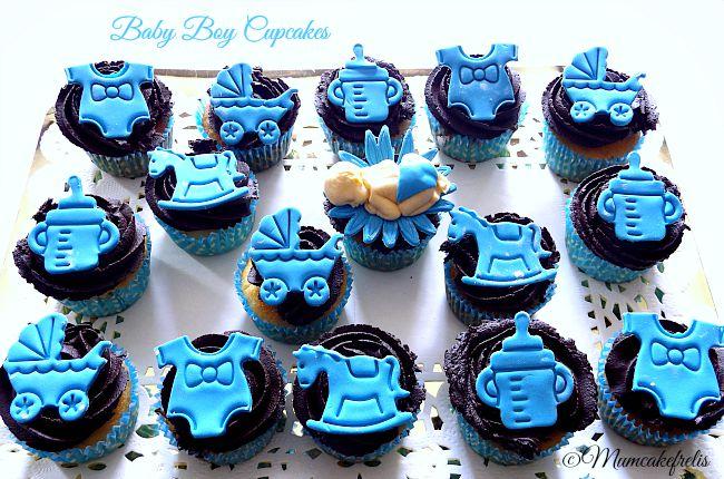 Cupcakes Baby Boy Shower