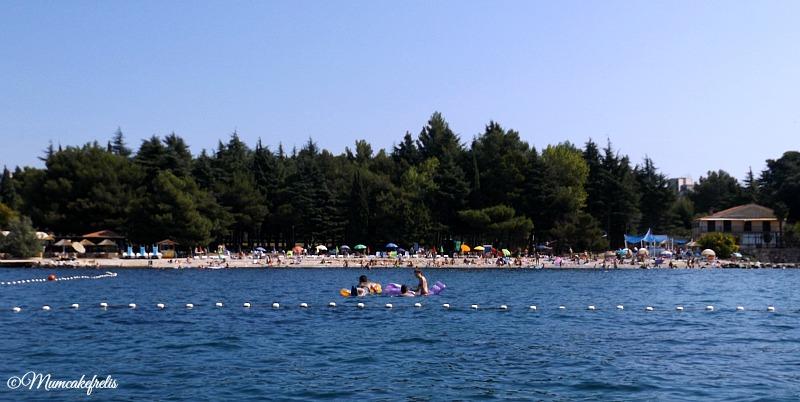 Parenzo spiaggia a nord della città