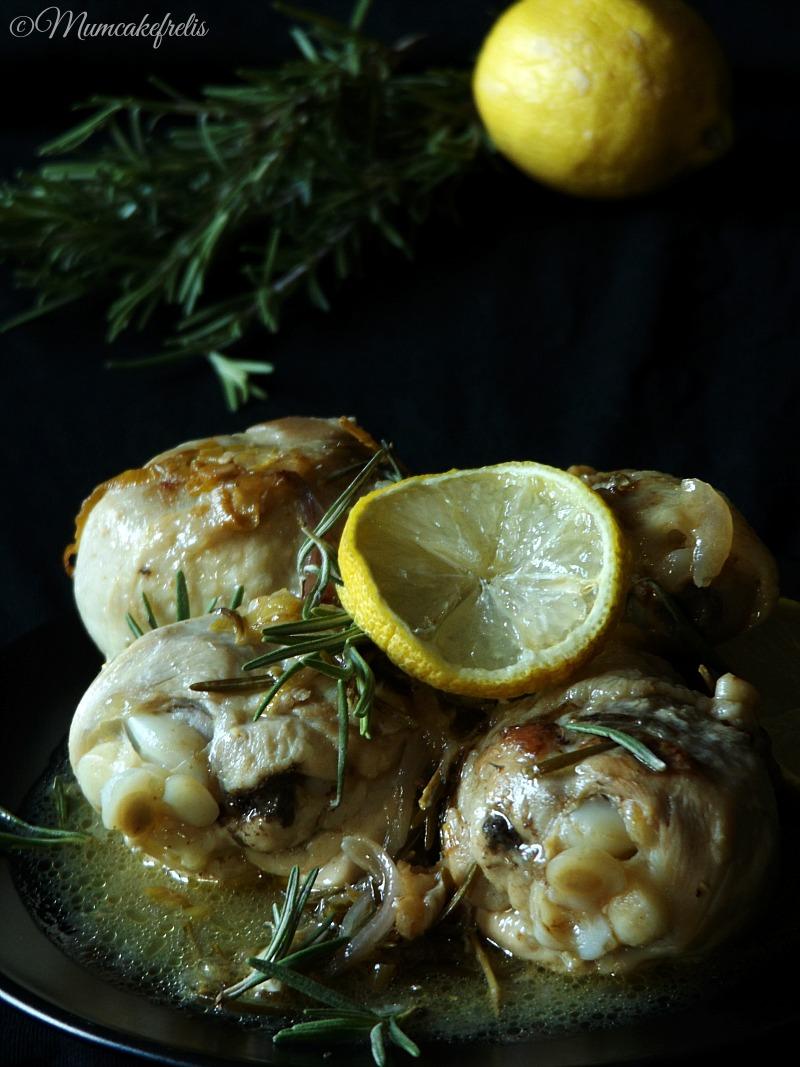 fusi di pollo al limone e rosmarino