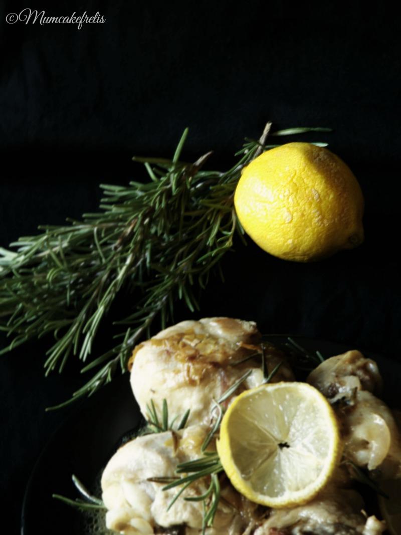Pollo al limone e rosmarino