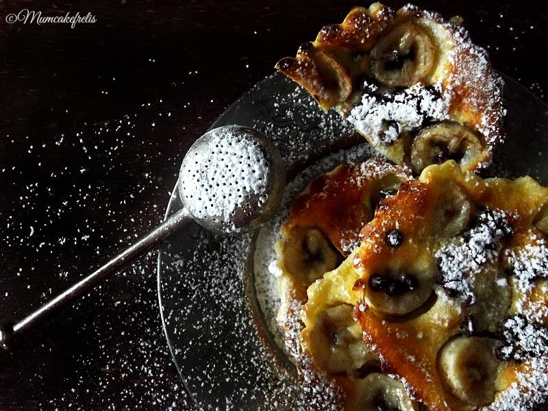 ricetta del clafoutis banana e cioccolato