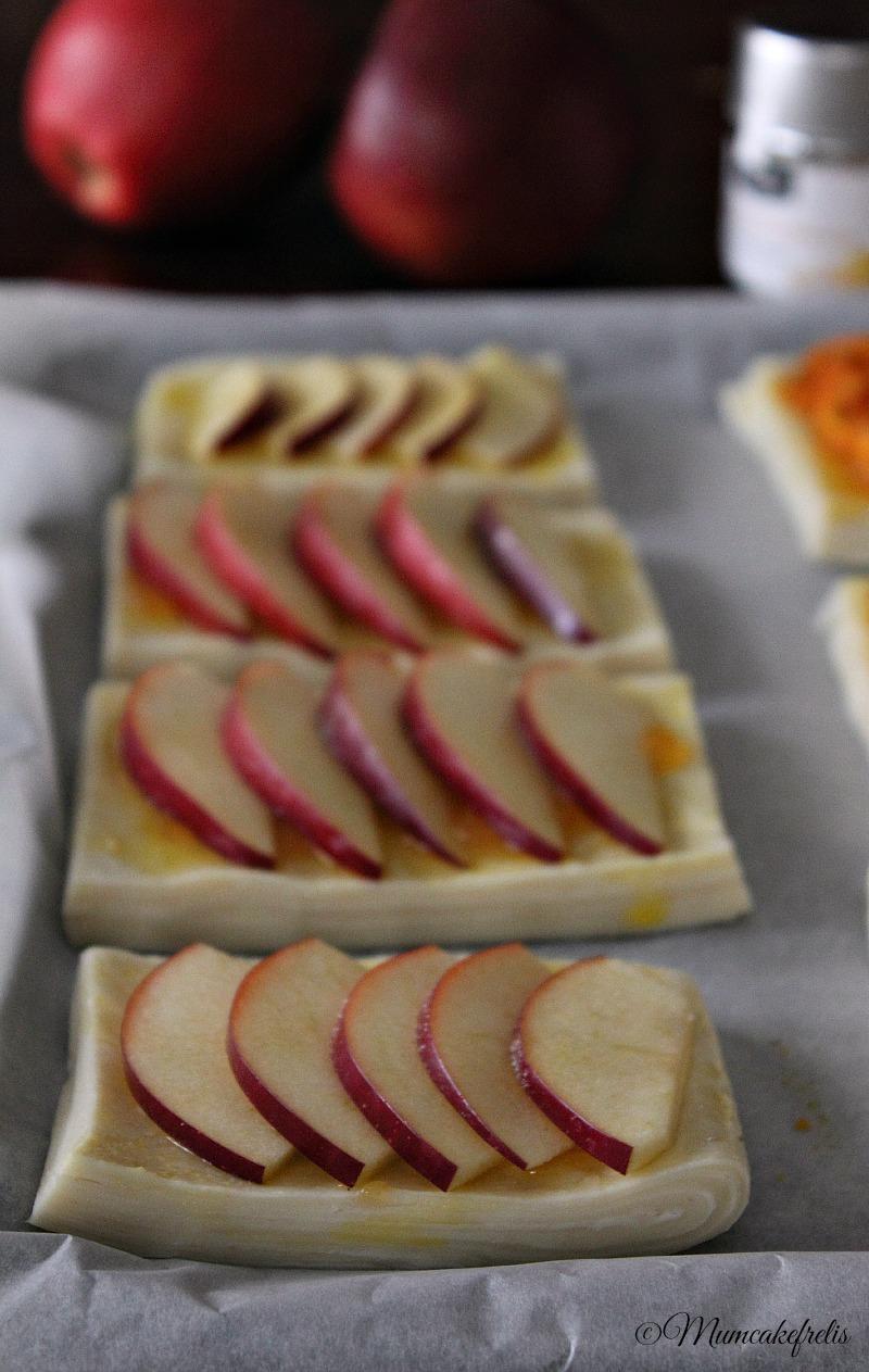 mele e pasta sfogliata