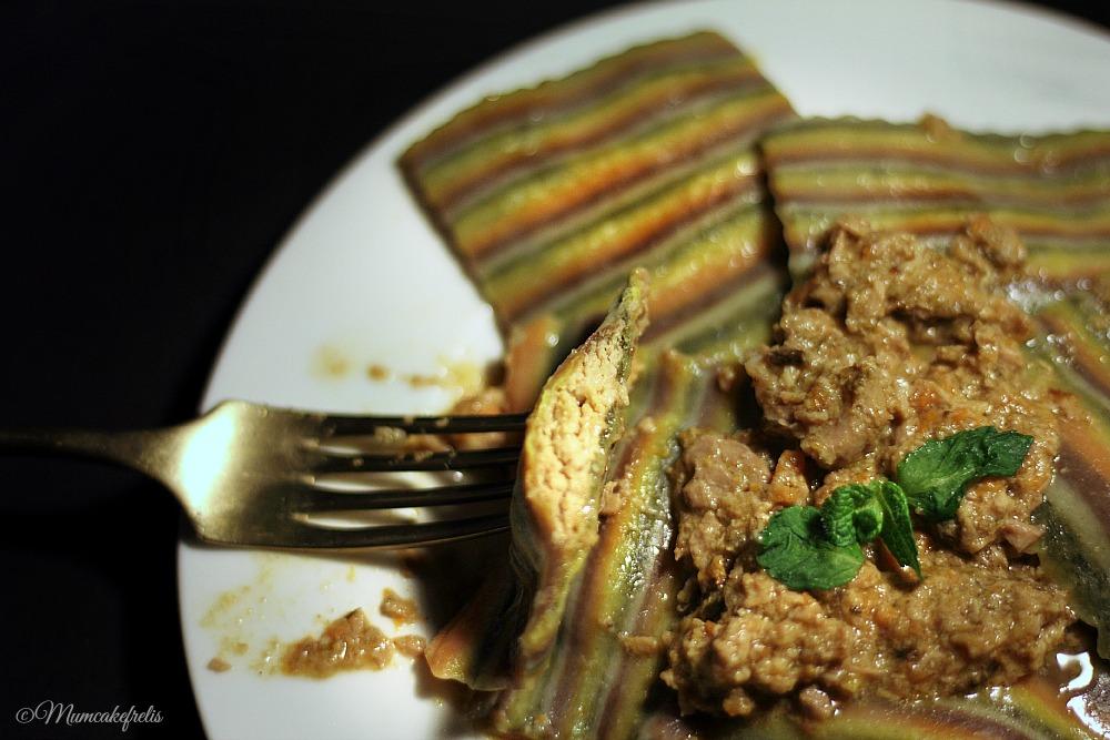 Ravioli ripieni di anatra e formaggio
