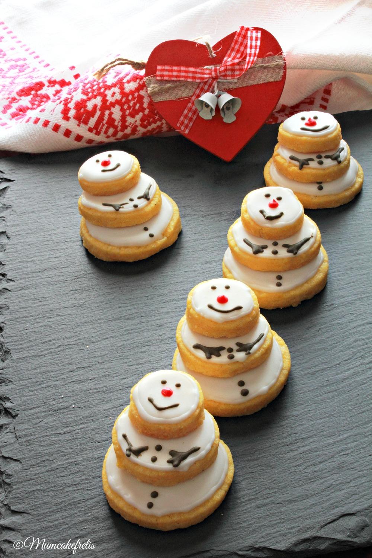 biscotti snowman