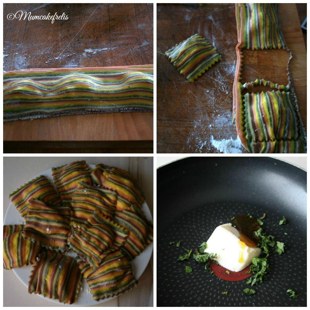 Formatura ravioli multicolore