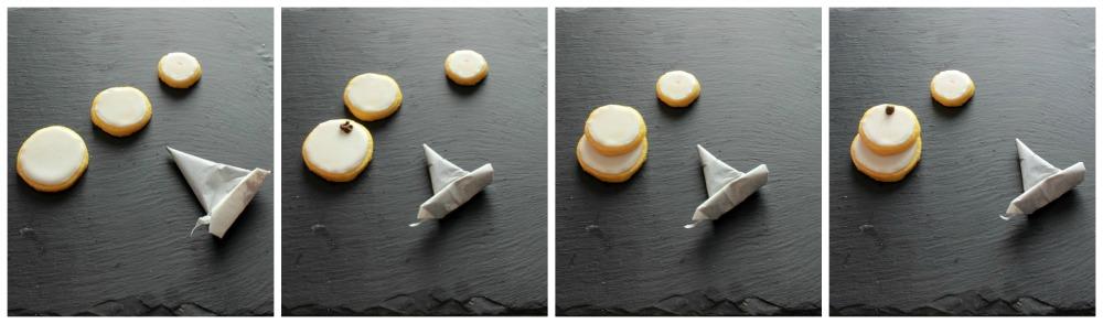 tutorial snowman cookies 1