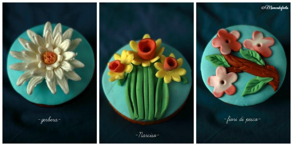 multi flower cupcakes