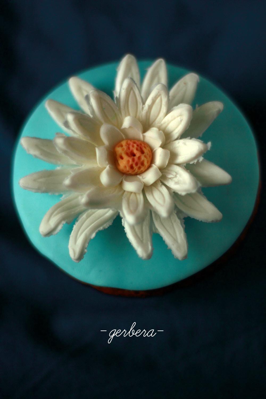 Cupcake con gerbera