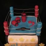 Torta ring boxe in pasta di zucchero