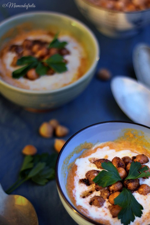 zuppa di carote, ceci e cocco