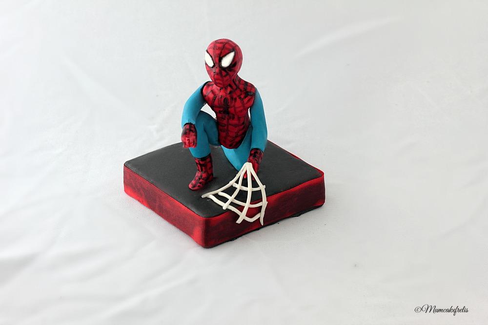 3D Sugar Spiderman Cake Topper