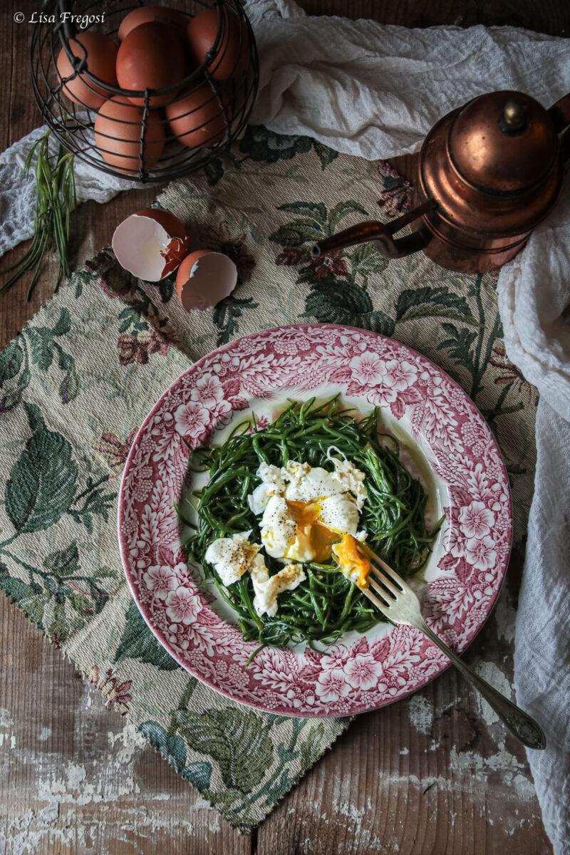 Agretti con uovo in camicia ricetta