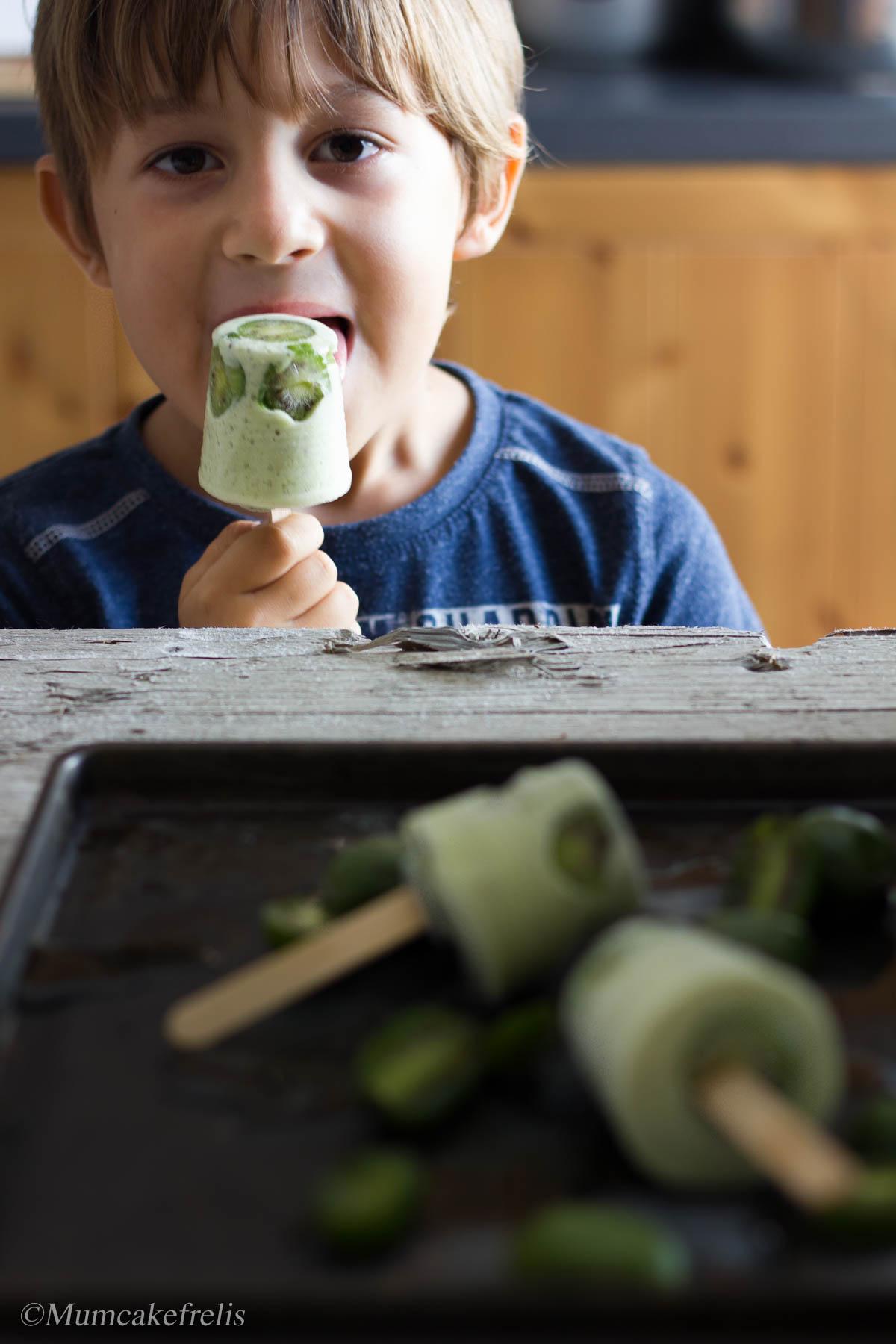 Kiwi Coconut Popsicles