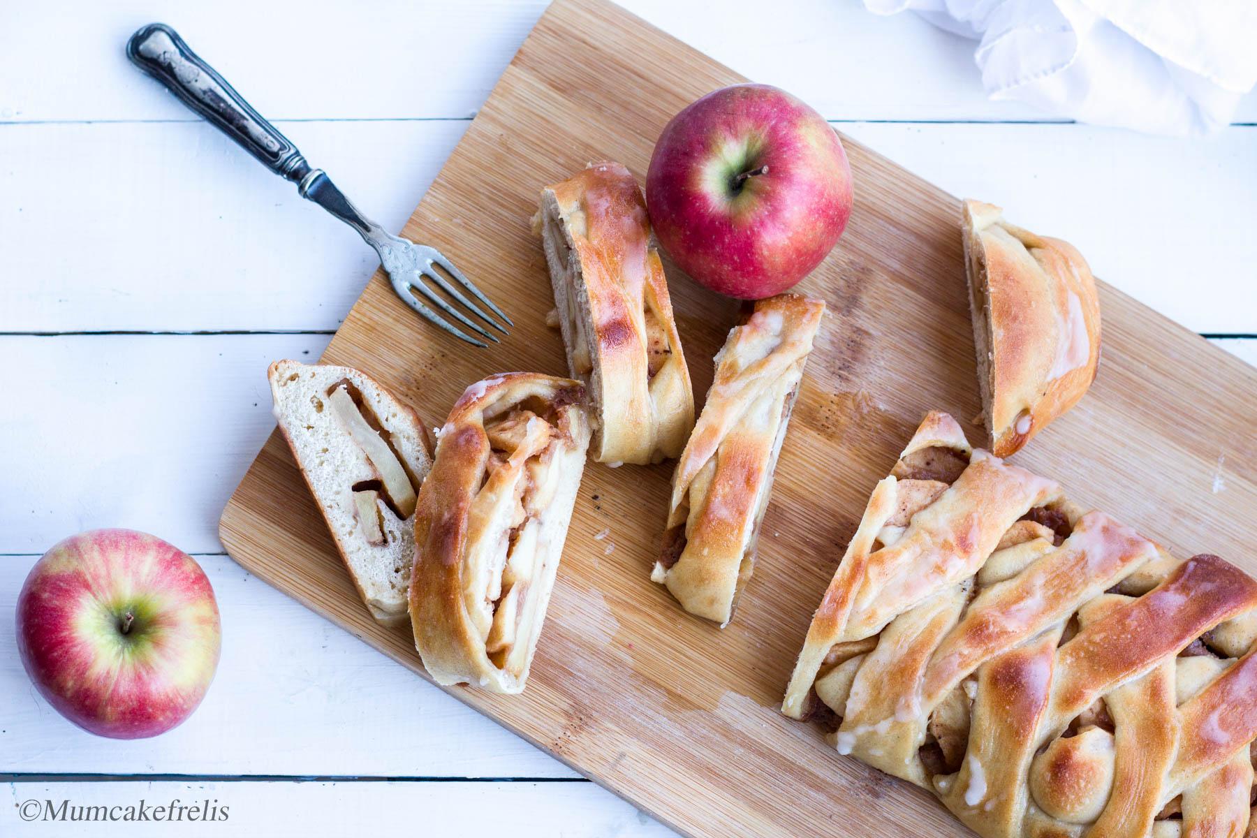 treccia svedese alle mele