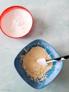 Torta cocco e mirtilli passo a passo
