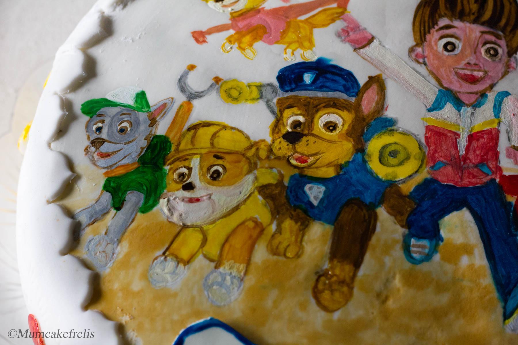cake of paw patrol, paw patrol cake how to