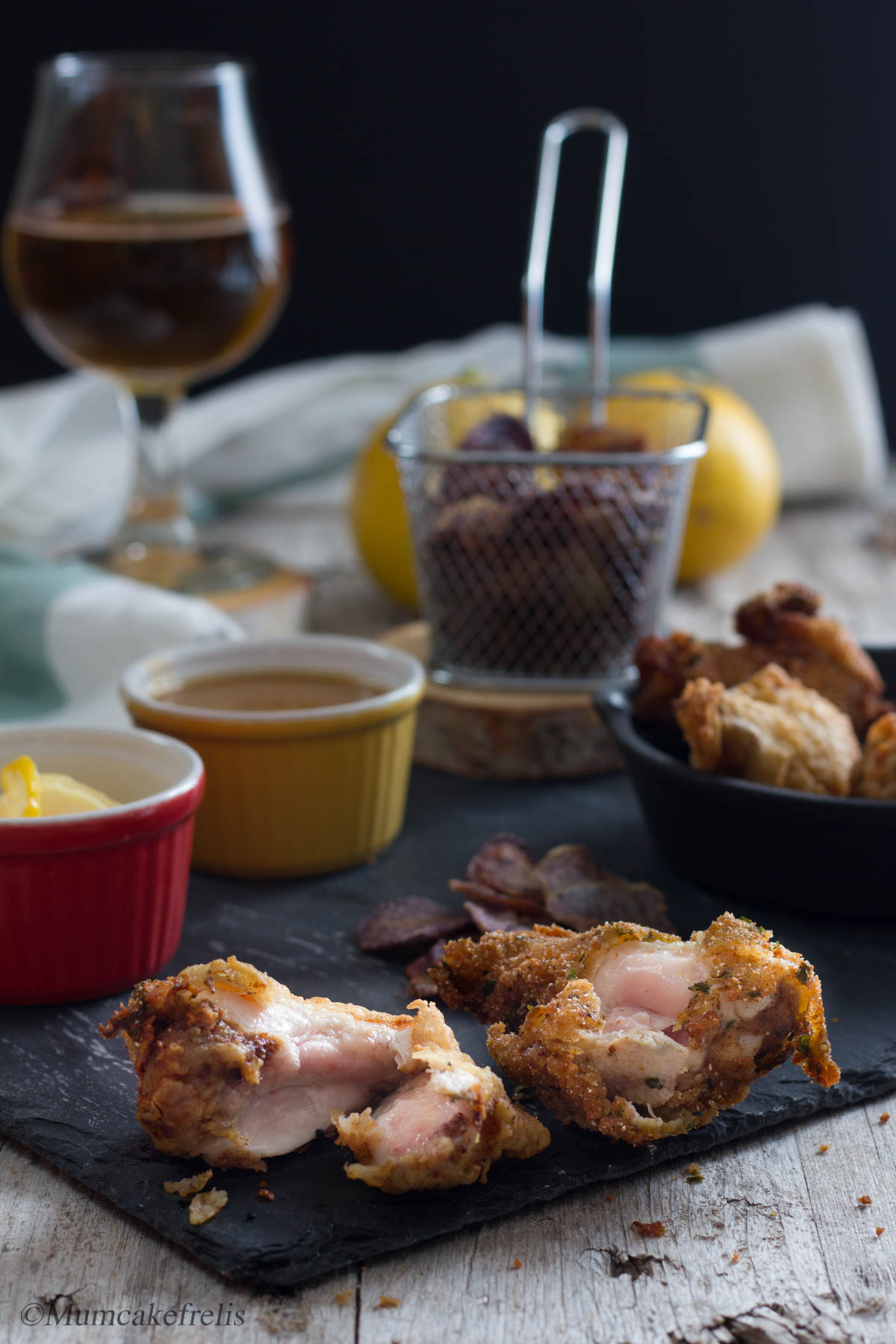 Pollo fritto cottura interna