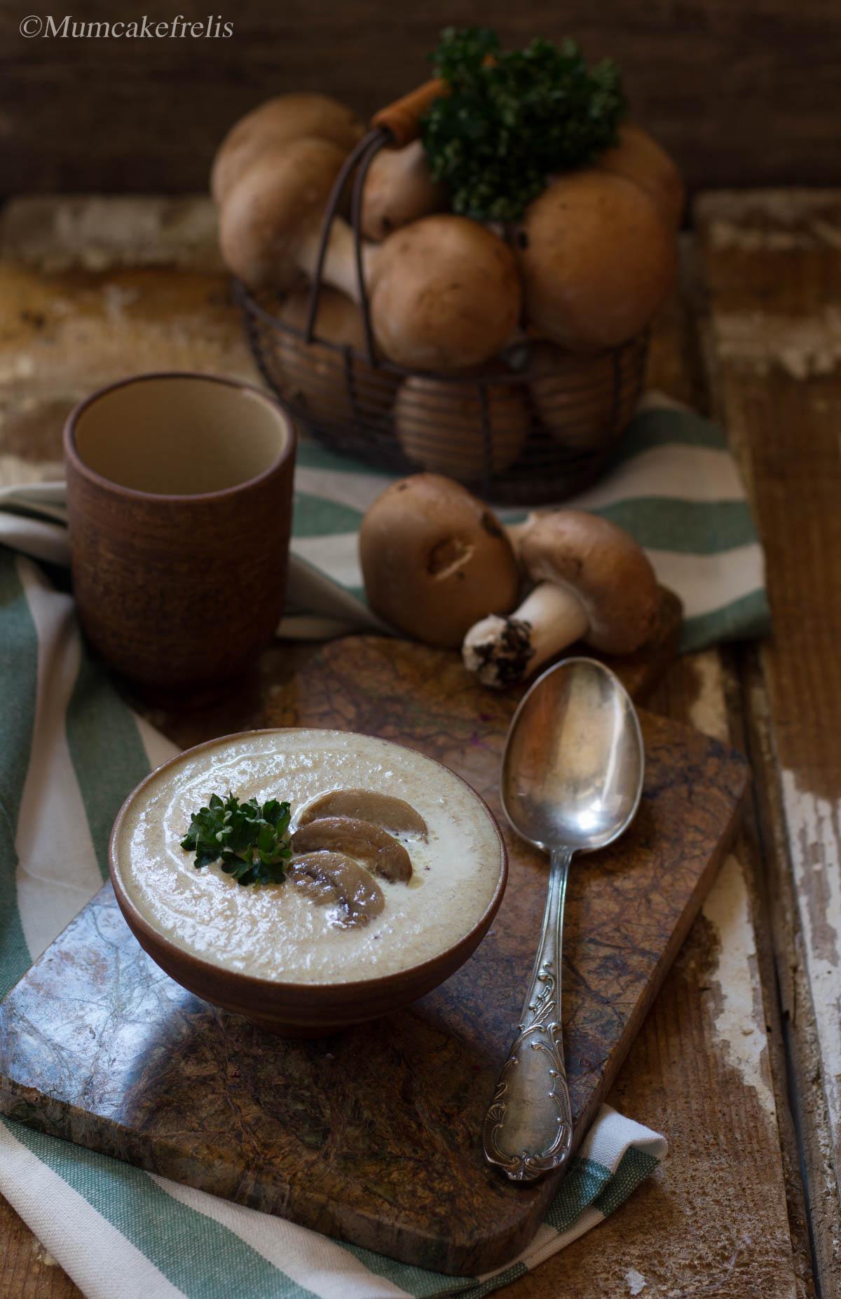 zuppa di funghi veloce,