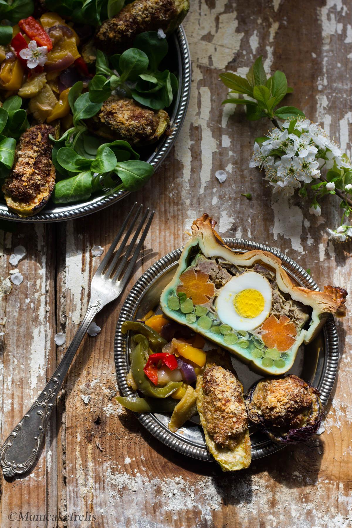 terrina di carne e verdure in crosta