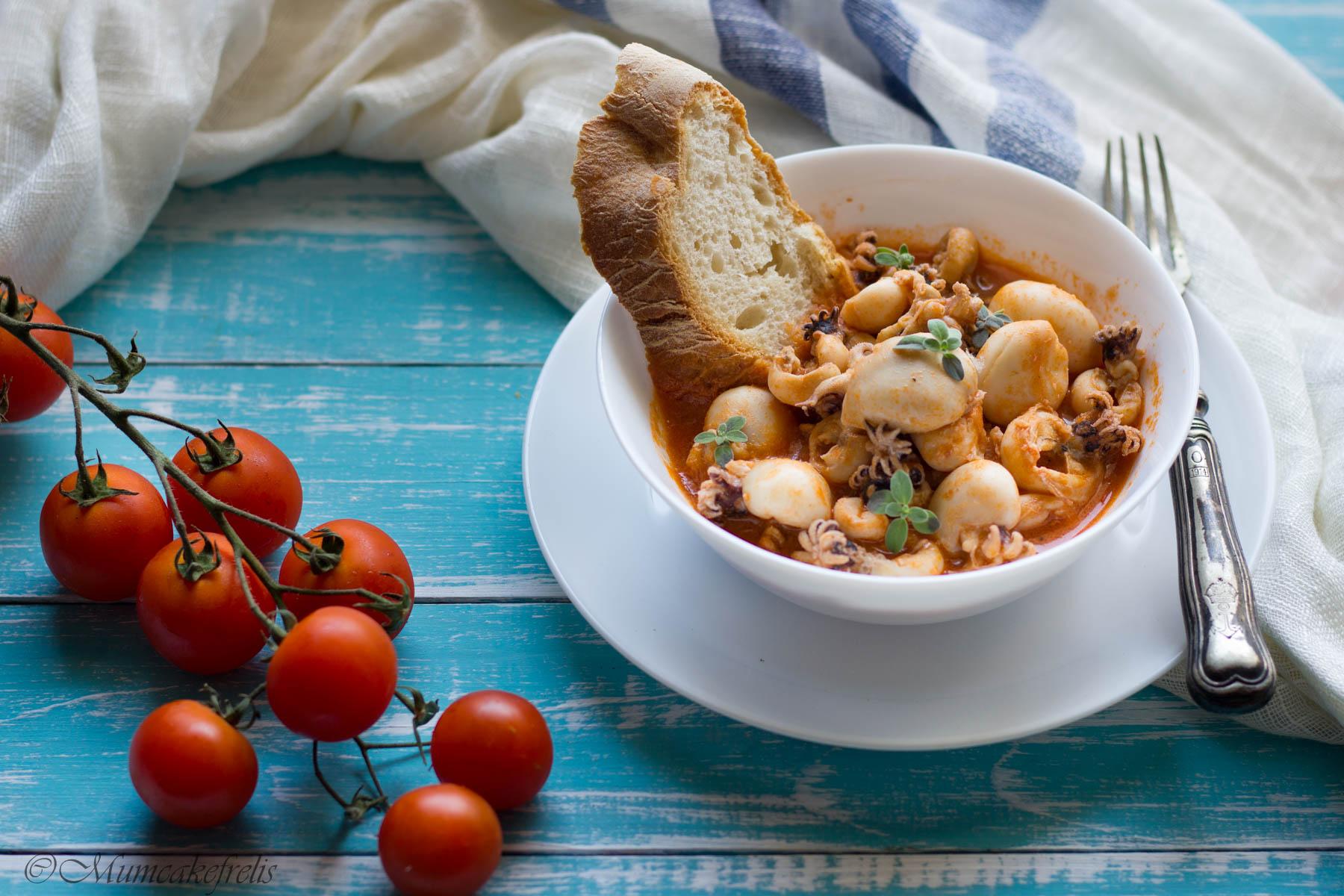 zuppa di pesce seppie