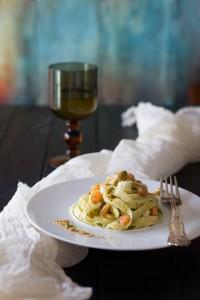 spaghetti con gamberetti e galinella