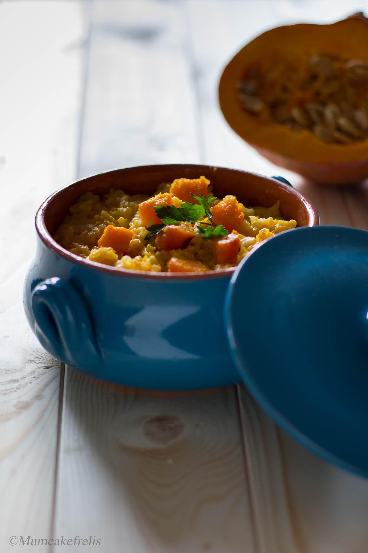la ricetta del risotto alla zucca