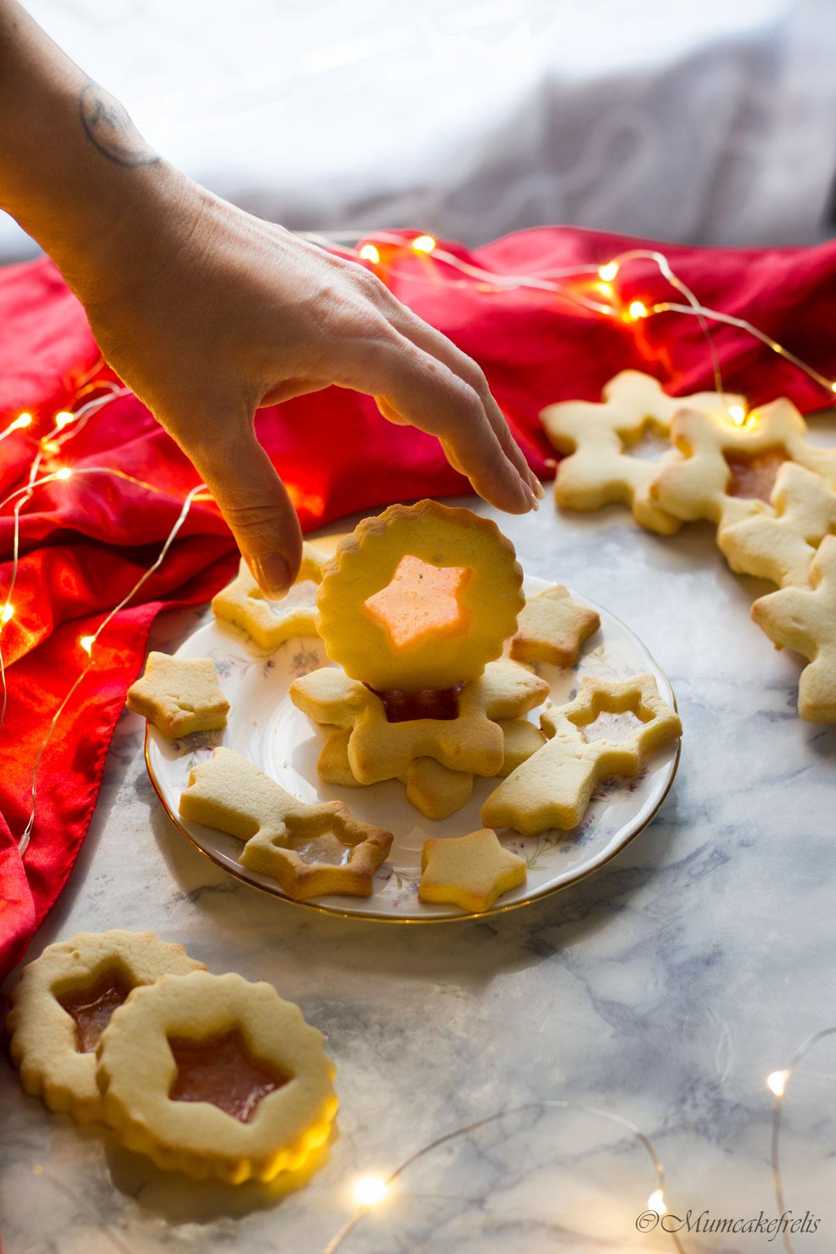 biscotti vetro per decorare l'albero