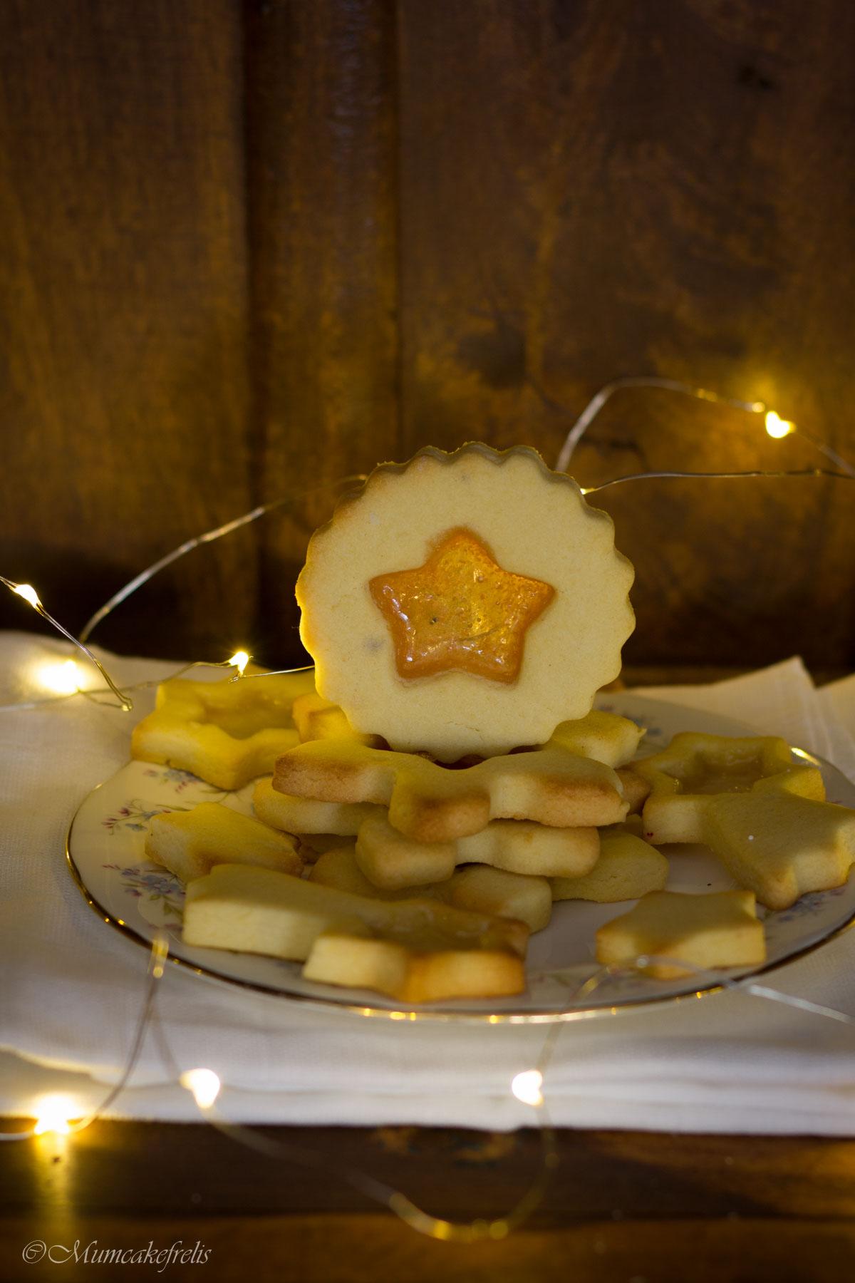 biscotti di vetro natalizi