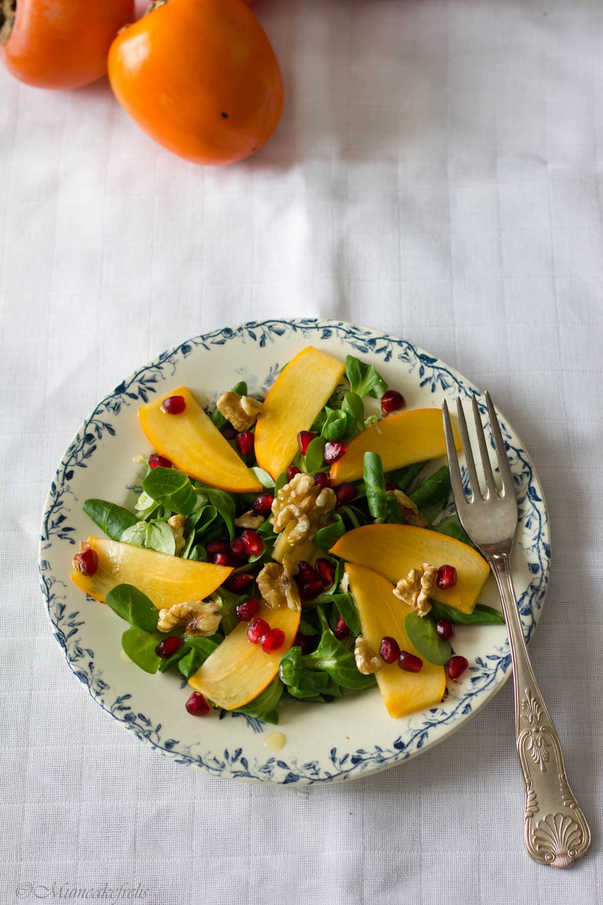 insalata cachi melograno