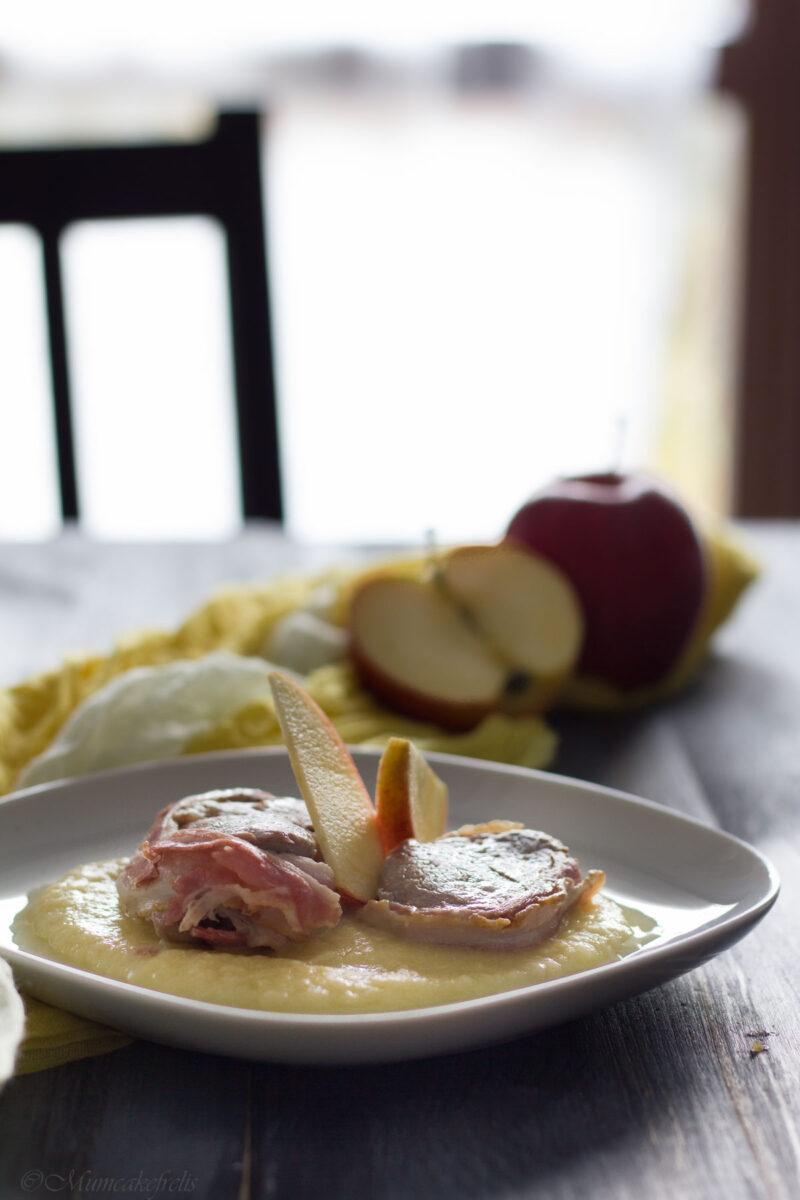 medaglioni di manzo con salsa alle mele