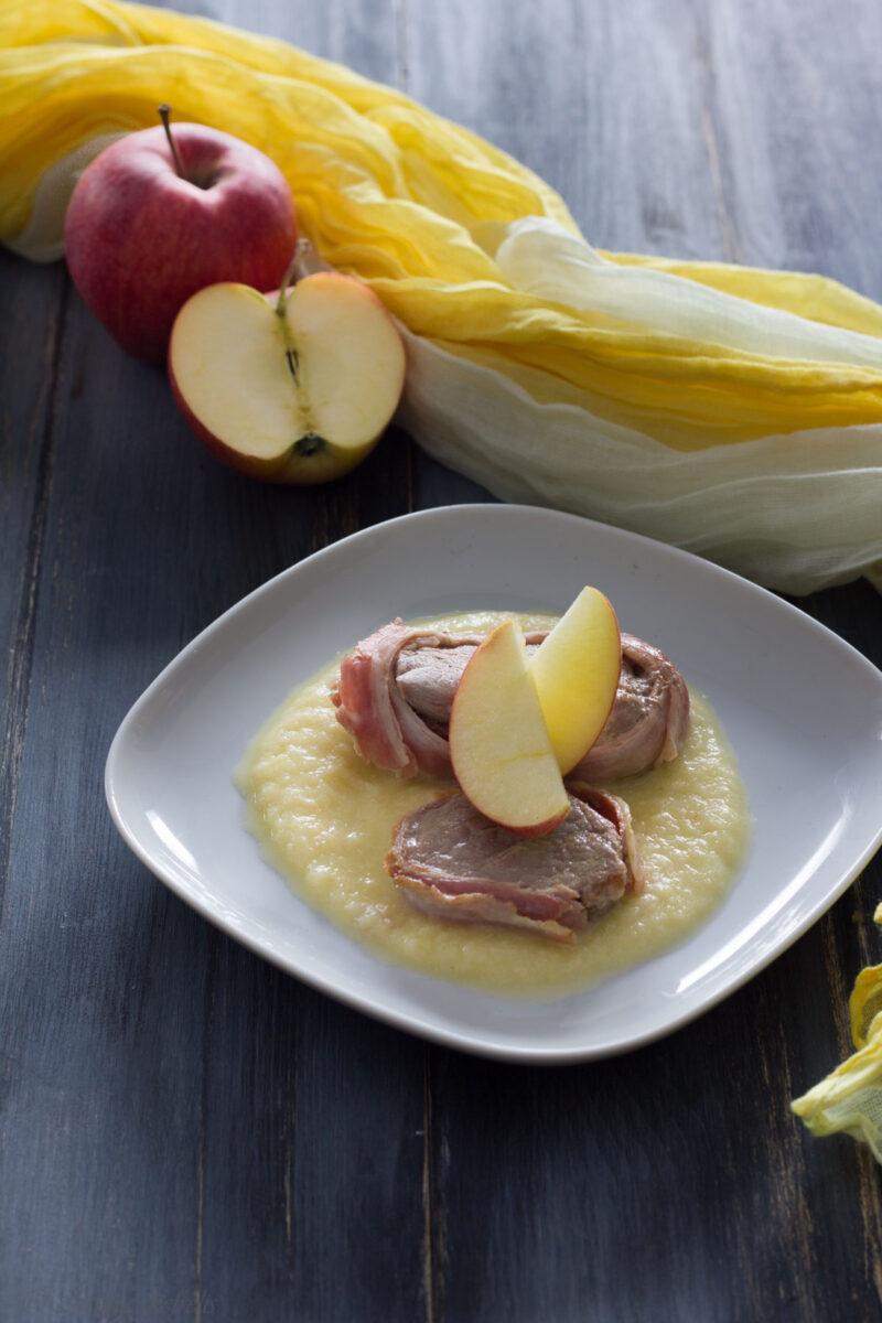 medaglioni di manzo con salsa di mele