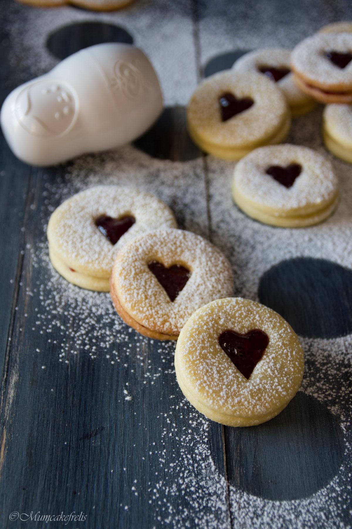 biscotti occhio di bue S. Valentino